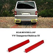 Yuk parachoques trasero marcador reflectante reflector lámpara de luz para VW Transporter T5 MK ...