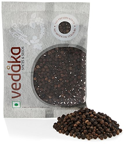 Amazon Brand – Vedaka Black Peppercorn (Kali Mirch), 50g