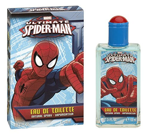 Mattel 5548 Eau de Toilette, Spiderman, 100 ml, Rosso