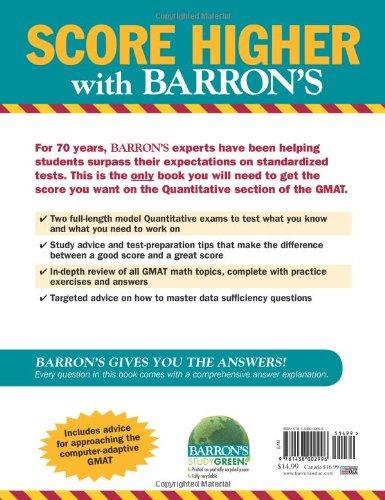GMAT Math Workbook (Barron's GMAT)