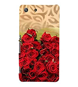 99Sublimation Bunch of red Roses 3D Hard Polycarbonate Back Case Cover for Sony Xperia M5 Dual :: E5633 :: E5643 :: E5663