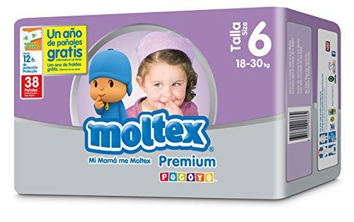 Moltex Premium Bolsa de Pañales Desechables - 38 Pañales
