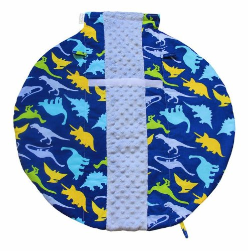 itzy-ritzy-wrap-and-roll-infant-carrier-arm-pad-and-tummy-mat-dino-mite