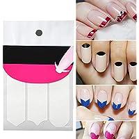 Xiton 1 hoja Francés uñas Pegatinas Manicura Uñas Pegatinas de Smile línea guía línea guía pegatinas