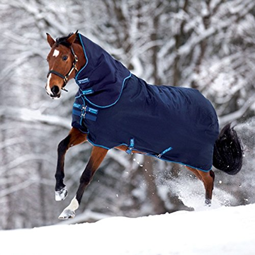 Horseware Amigo Bravo 12 Turnout – 100g – navy & electric blue