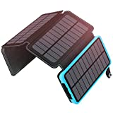 ADDTOP Solar Charger 25000mAh, Portable Solar Power Bank with 4 Solar Panels Outdoor
