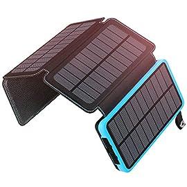 A ADDTOP Caricabatterie Solare 25000mAh PowerBank Portatile con 2 Porte USB Batteria Esterna Impermeabile con 4 Pannello…