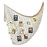 VORCOOL WINOMO Mittelmeer Stil Dekoration-Der Fischernetz mit 30pcs Rahmen Foto Wand-Papier Dekoration