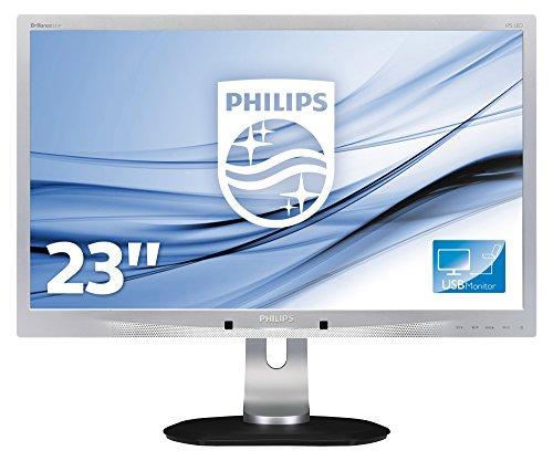 Philips 231P4QUPES/00 58,4 cm (23 Zoll) Monitor (VGA, USB, 1920 x 1080, 60 Hz, Pivot) silber Flat-panel-webcam