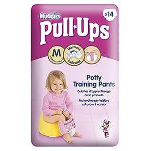 Huggies Pull Ups Potty Training Pants for Girls - Medium (11-18 kg), 14 x 6 Packs (84 Pants)