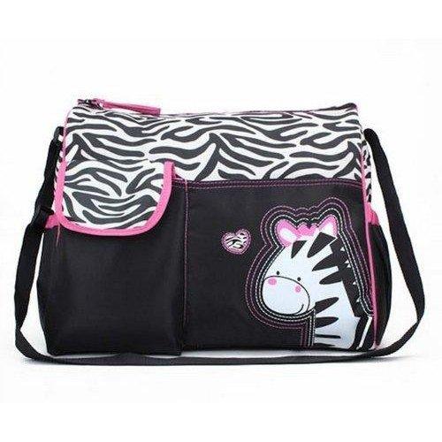 SODIAL(R) Multifunktionale Baby Windel Windel Wickeltasche Mama Handtasche Zebra Muster