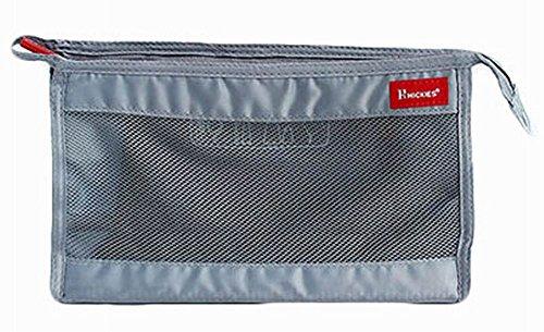 sac à séchage rapide maillage de douche sac de voyage sac de cosmétiques, gris