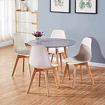 Goldfan Dining Table And 2 Chairs Kitchen Room Set Eiffel