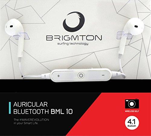 Brigmton BML 10im Ohr Monophon Bluetooth weiß-Kopfhörer (Monophon, im Ohr, Weiß, Digital, in-line Kontrolle, CE)