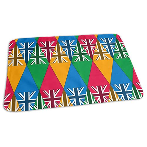 Union Jack Flag Bunting Baby Portable Reusable Changing Pad Mat 19.7x27.5 inch -
