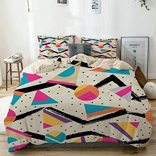 YOLIKA Años Ochenta Memphis Fashion Style Geometric Abstract Colorful Design con Puntos...
