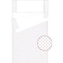 Dorte Hogar.- Saco nórdico para minicuna 50 x 80 cm con relleno incluido y con fuelle Estrellas (Rosa)