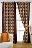 HOMEC Trendy Printed Door Curtains Set o...