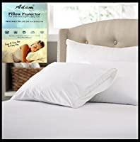 Adam Home Pack of 4 Pillow Protectors with Zip 100% Cotton Anti-Allergy