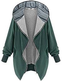 DJT Mujeres Abrigo Gabardina Impermeable de Manga Larga con Capucha Coat Jacket
