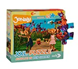 Noris Spiele 606031597 JoNaLu XXL Puzzle - Ausflug in den Garten, 45 Stück