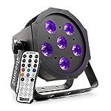 Beamz bfp130Strahler LED, von Typ flapar, 6x 6W-Leistung, 3in 1Kombination von Farben, DMX Modi und autonome, Fernbedienung–Schwarz