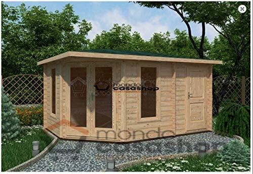 Mondocasette Casa Gartenhaus aus Holz - Modell Capri Wandstärke 45 mm 440 x 300 cm, Holzbox