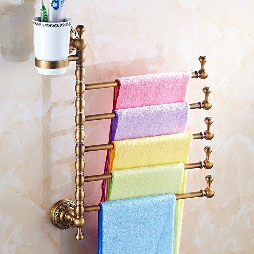 Creative Light-porte-serviettes Continental / Tout rotation porte brosse à dents de cuivre / Porte-serviettes épaississement porte-serviettes Antique / savon-M