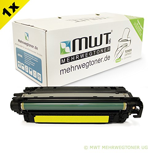 1x MWT Remanufactured Toner für HP Color LaserJet CP 3525 X DN N ersetzt CE252A (Ce252a Hp)