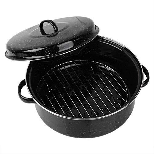 QZHYGE Haushalt Eisen Grill Süßkartoffeln Pan geröstetes Brot mit eingebauten Steamer Rack Kitchen Tool Zubehör