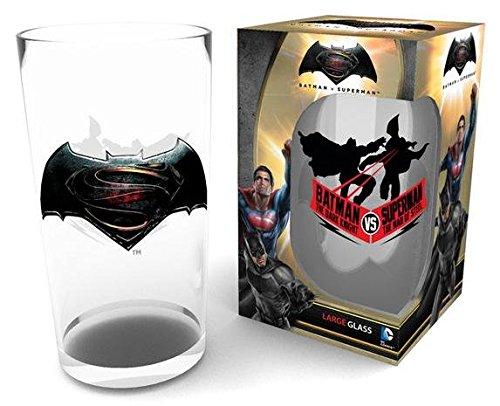 (Festartikel Müller Batman vs Superman Glas Logo, Holz, Mehrfarbig, 9x15x9 cm)