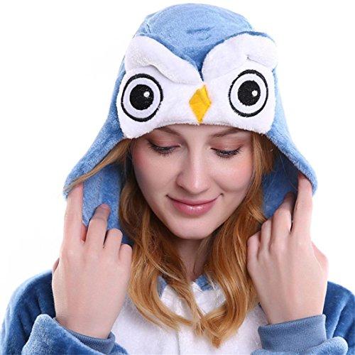 Bluestercool Pigiama Intero Animali Pinguino Unisex Invernale Halloween Costume Tuta Blu
