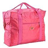 RUNACC Reisetasche Faltbar Transportsack Aufbewahrung Tasche Duffle Gepäck Tasche Oxford Geeignet für Reise,Outdoor,Aufbewahrung (Rosig)