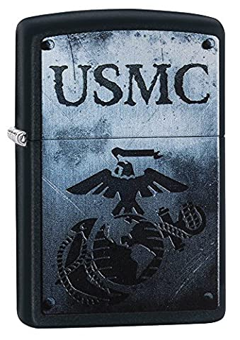 Zippo USMC Windproof Lighter - Black