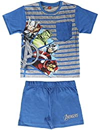 The Avengers Official Marvel Short Pyjama Set For Boys PJ's 2 Piece Kids Size 4-8 Years