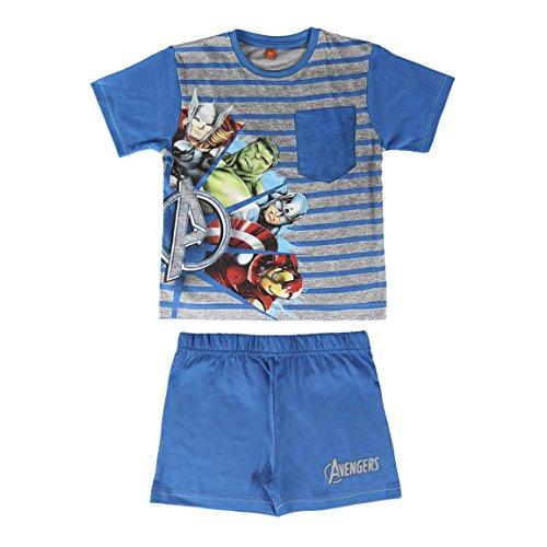 Los Vengadores - pijama manga corta 2 piezas 100% algodón (8 años)