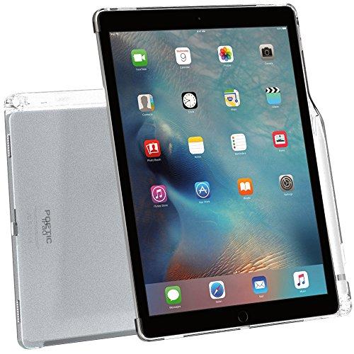 Custodia iPad Pro 12,9, Poetic [Serie Clarity]-[Trasparente][Compatibile con tastiera][Reggipenna] Custodia alla moda sottile in TPU per iPad Pro 12,9 (2015) con reggi penna, compatibile con tastiera Apple Smart Keyboard Smerigliato Chiaro (3 Anni di Garanzia del Produttore Poetic)