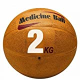 New Orange Rubber Weight Training Fitness Muscle Sports 2KG Exercise Weighted Medicine Ball