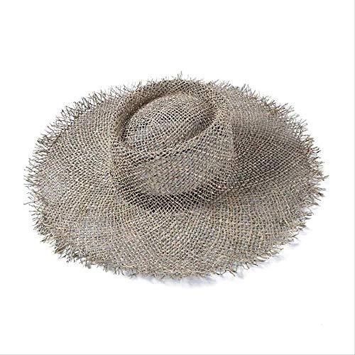 2019 Fashion Breathable Green Straw Beach Sun Hats for Women Hat Size 56-57 cm Cool Ladies Summer Hat Dropshipping Großhandel Strohgrün
