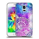 Head Case Designs Galaxie Mandala Traum Doodle Soft Gel Hülle für Samsung Galaxy S5 Mini