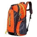 40L Leichte Wanderrucksack, Natuce Multifunktionale Wasserdicht Casual Camping Tagesrucksack für Outdoor-Sport Klettern Bergsteiger 52 X 33 X 16 cm - Orange