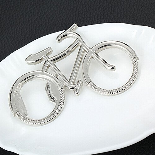 Happy Star Plata Metal para bicicleta con forma de cerveza abrebotellas regalo para ciclista