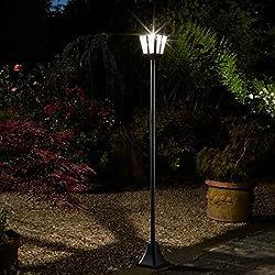Smart Solar, lampadaire Whitehall super lumineux 100 Lumens 1,70 m