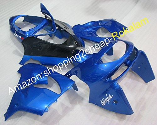 Hot Sales, 98 99 Zx-9r Marché kit Carénages Ensemble pour Kawasaki Ninja Zx9r 1998 1999 ZX 9R Bleu Noir Moto carrosserie complet Carénage