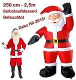 Karneval-Fasching-Shop Riesiger aufblasbarer Weihnachtsmann Nikolaus Innen Außen Dekoration 250cm