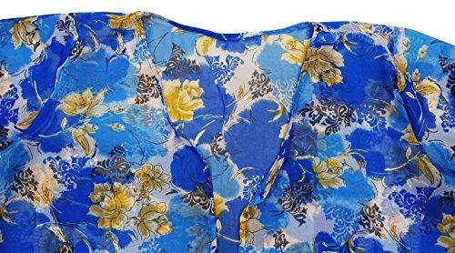 La Copertura Della Spiaggia Di Estate Di Kaftan Di Modo Delle Donne Copre Il Vestito Casuale Caftan Di Usura Di Nuotata Blu, Beige E Bianco Spento