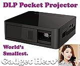 Gadget Hero's UC50 Mini HD Multimedia DLP Projector. Rechargeable, Portable & World's Smallest. Black