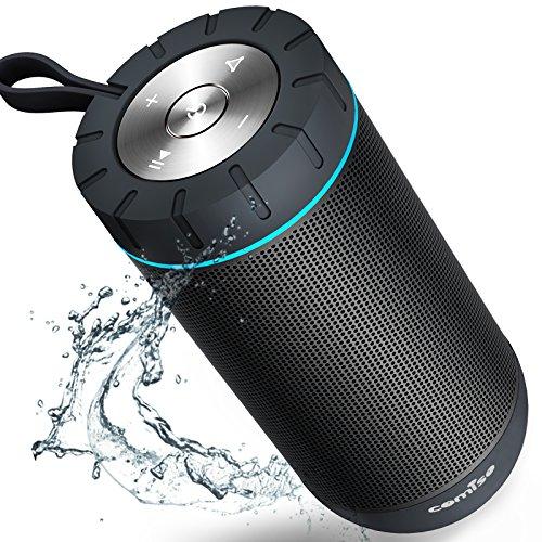 COMISO Wasserdicht Bluetooth Lautsprecher Kabellose Portabler 12W Lautsprecher Box mit 36-Stunden Spielzeit & Dual-Treiber Wireless Speakers mit Mikrofon und Reinem Bass - Wasser Lautsprecher Wireless Bluetooth