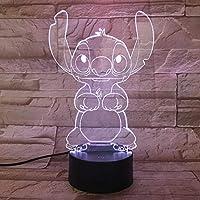 WoloShop Stitch LED Night Light, Colour-Changing, USB
