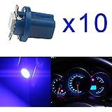 Grandview 10 pcs B8.5 5050 1SMD LED Salpicadero Bombilla Luz del Panel de instrumentos, T5 17 18 27 37 58 70 73 74 79 85 86 2721?color Azul